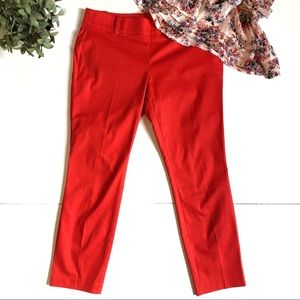 ANN TAYLOR Chelsea Crop Red Dress Pants 4P